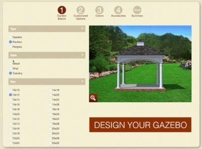 design your own gazebo