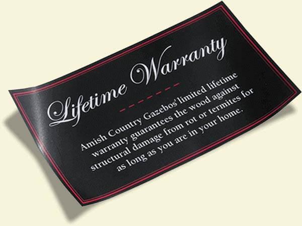 gazebo lifetime warranty