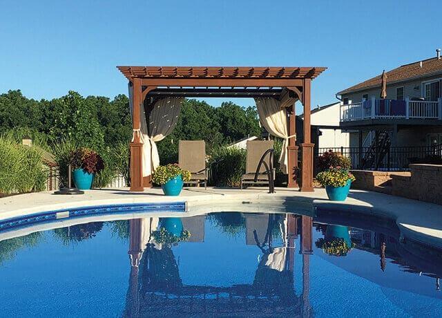 pergola by pool