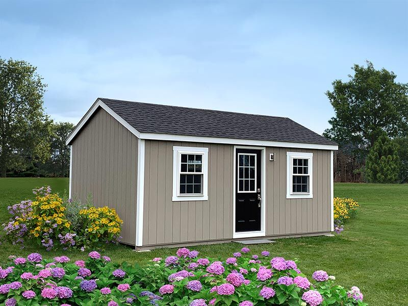 amish built brown tiny home