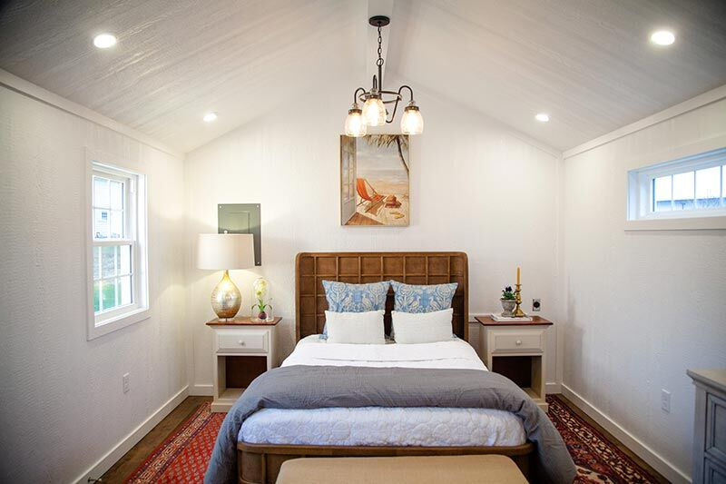 bedroom in a tiny home