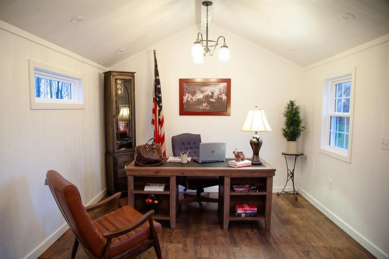 office inside of amish built home