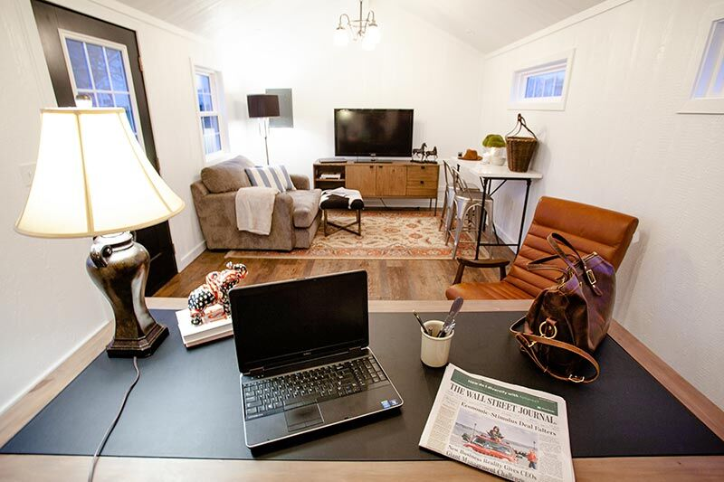 office in a tiny home