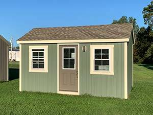 small 10x16 amish built green home