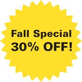 Fall special 30% off