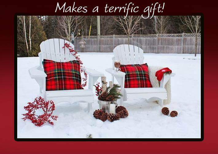 Christmas Gift Amish Adirondack Chair